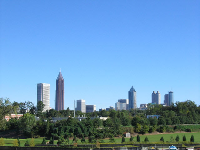 Atlanta skyline from Atlantic Station.