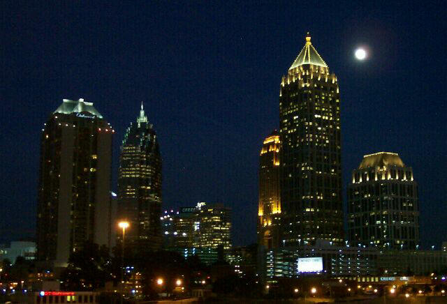 Atlanta Skyline At Midnight